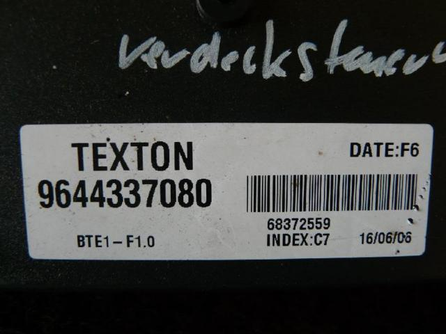 Steuergeraet verdeck 206 cc Bild