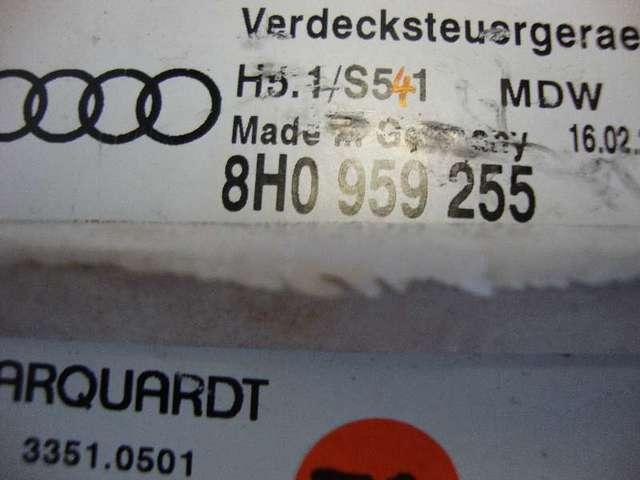 Steuergeraet verdeck   a4 cabrio bj03 bild2