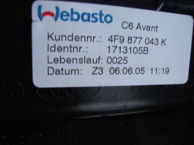 Schiebedach mit rahmen a6  4f 3,2  bj 2007 bild1