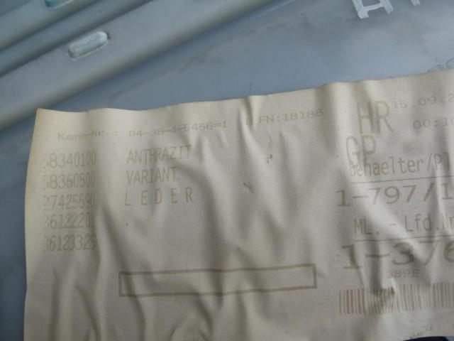 Tuerverkleidung hinten rechts  leder anthrazit Bild