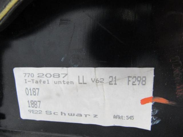 Verkleidung armaturentafel unten links abdeckung Bild