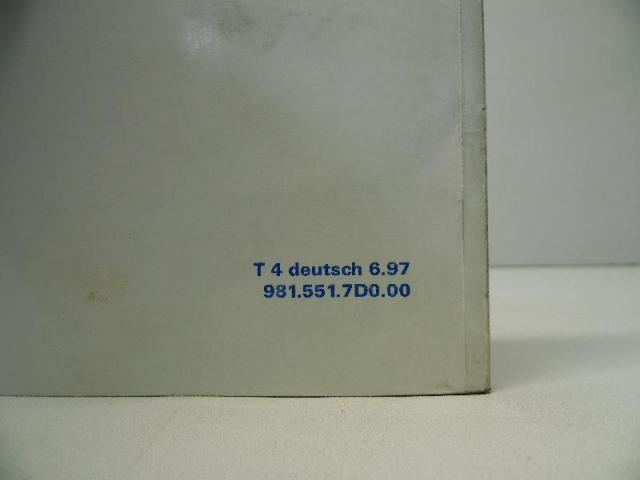 Betriebsanleitung t4 deutsch 06 1997 9815517d000 Bild